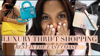 Huge LUXURY THIRFT with me in Miami (Found Chanel, LV, Hermes, YSL) + TRY ON HAUL 2019