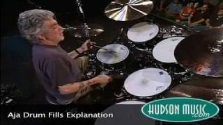 "Steve Gadd demonstrated the fills from the Steely Dan classic, ""Aja..."