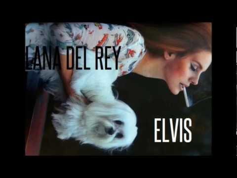 Elvis - Lana Del Rey Lyrics on screen.