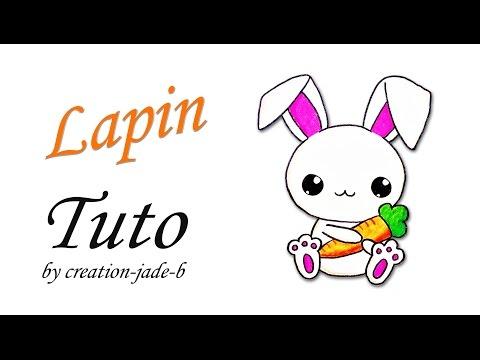 Coloriage Kawaii Lapin.Comment Dessiner Un Petit Lapin Kawaii Youtube