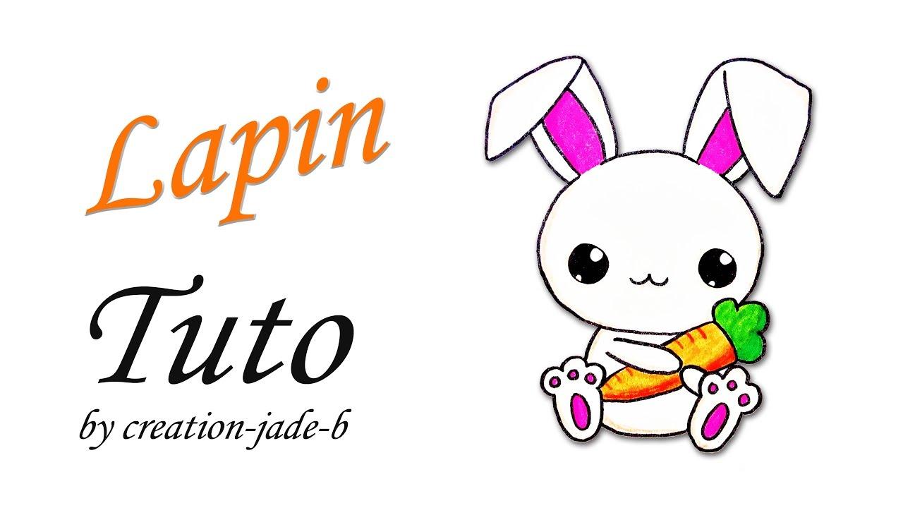 Comment dessiner un petit lapin kawaii youtube - Dessin un lapin ...