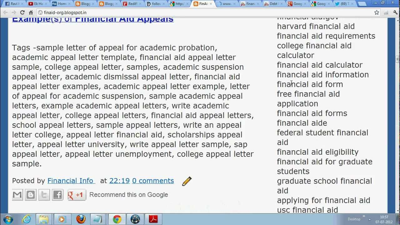 free academic appeal sample letter for college and universities