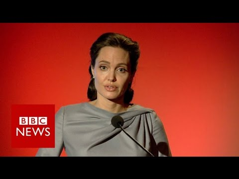 Angelina Jolie Pitt: Refugee system breaking down - BBC News
