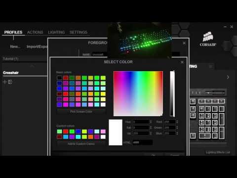 K70 RGB Crosshair Wave settings