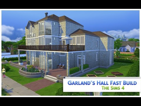 "The Sims 4 Speed Build ""Garland's Hall"" House (with pool)"