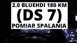 DS 7 Crossback 2.0 BlueHDI 180 KM (AT) - pomiar zużycia paliwa