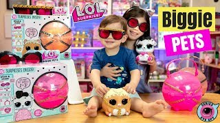 LOL SURPRISE BIGGIE PETS! DOLLMATION + MC HAMMY UNBOXING | SERIES 4 EYE SPY L.O.L. PET + FOOD BABIES