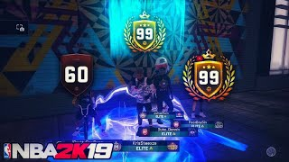 99 OVERALL MONTAGE 90 OVERALL TO 99 OVERALL HITTING 99 OVERALL MADE ME A DEMIGOD ON NBA 2k19
