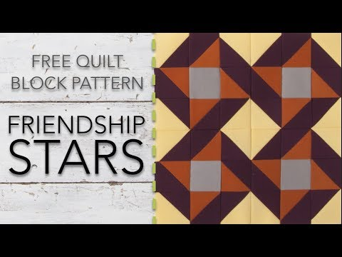 FREE Quilt Block Pattern: Friendship Stars