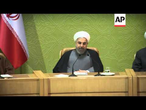 Iran's President Rouhani addresses Islamic Unity conference