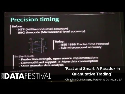 "Christina Qi at BDF 2015 | ""Fast and Smart: A Paradox in Quantitative Trading"""