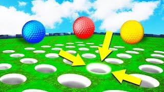 КАК РАЗГАДАТЬ В КАКОЙ ЛУНКЕ ФИНИШ? ПОПАЛИ С ПЕРВОГО РАЗА В ОЧЕНЬ СЛОЖНУЮ ЛУНКУ В ГОЛЬФ ИТ (Golf It)
