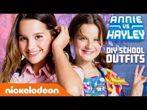 Annie & Hayley LeBlanc DIY School Outfits! 👗 Fashion Faceoff: Season 2 Ep. 1 | Nick