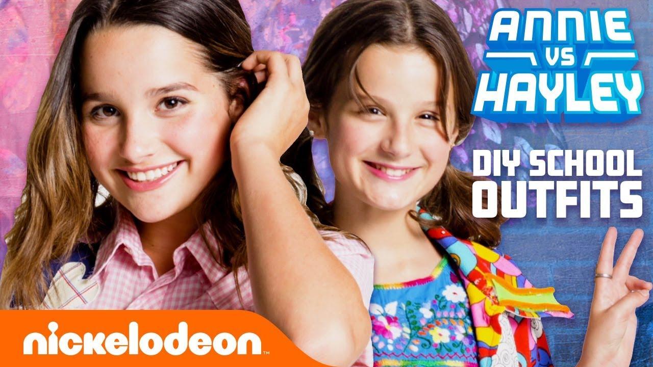 [VIDEO] - Annie & Hayley LeBlanc DIY School Outfits! ? Fashion Faceoff: Season 2 Ep. 1   Nick 1
