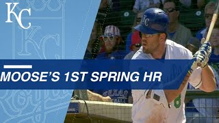 Moustakas crushes first Spring Training home run