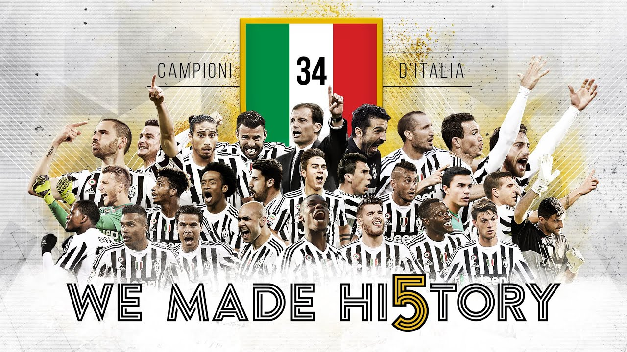 Juventus scudetto 2015 16 we made hi5tory youtube for Immagini juventus