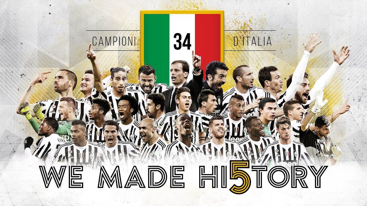 Juventus, Scudetto 2015/16: WE MADE HI5TORY!!!!!