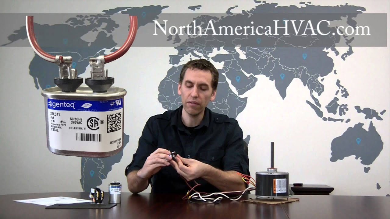 How To Wire A 4 Ac Condenser Fan Motor Youtube Capacitor Type Control Wiring