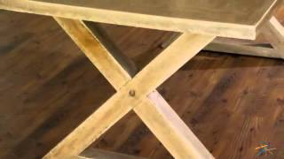 Sanctuary X-base Rectangle Dining Table - Parchment - Product Review Video
