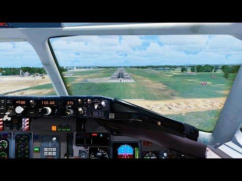AeroMexico MD 81 Landing @ Eastern West Virginia Regional ( Cockpit ) ( HD )