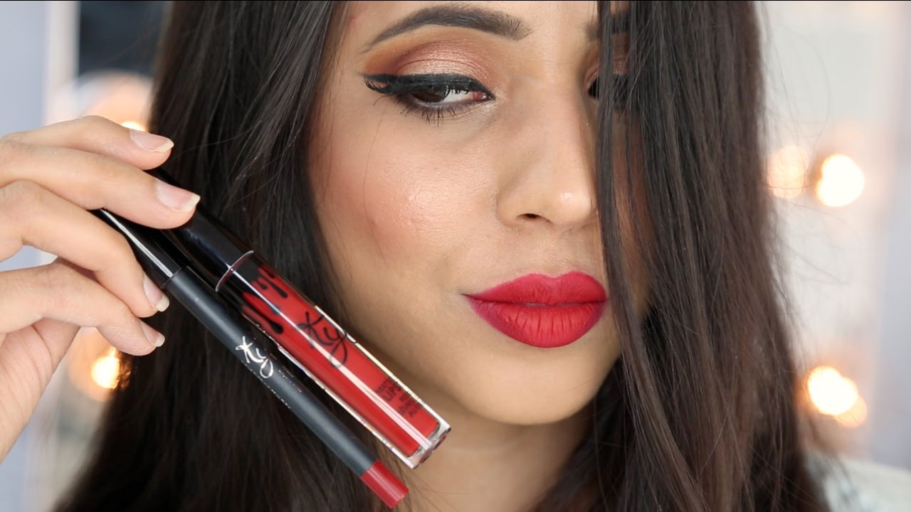 How to apply Red Liquid Lipstick for beginners | Indian/Pakistani/MAC ...