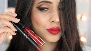How to apply Red Liquid Lipstick for beginners | Indian/Pakistani/NC42/Brown Skin