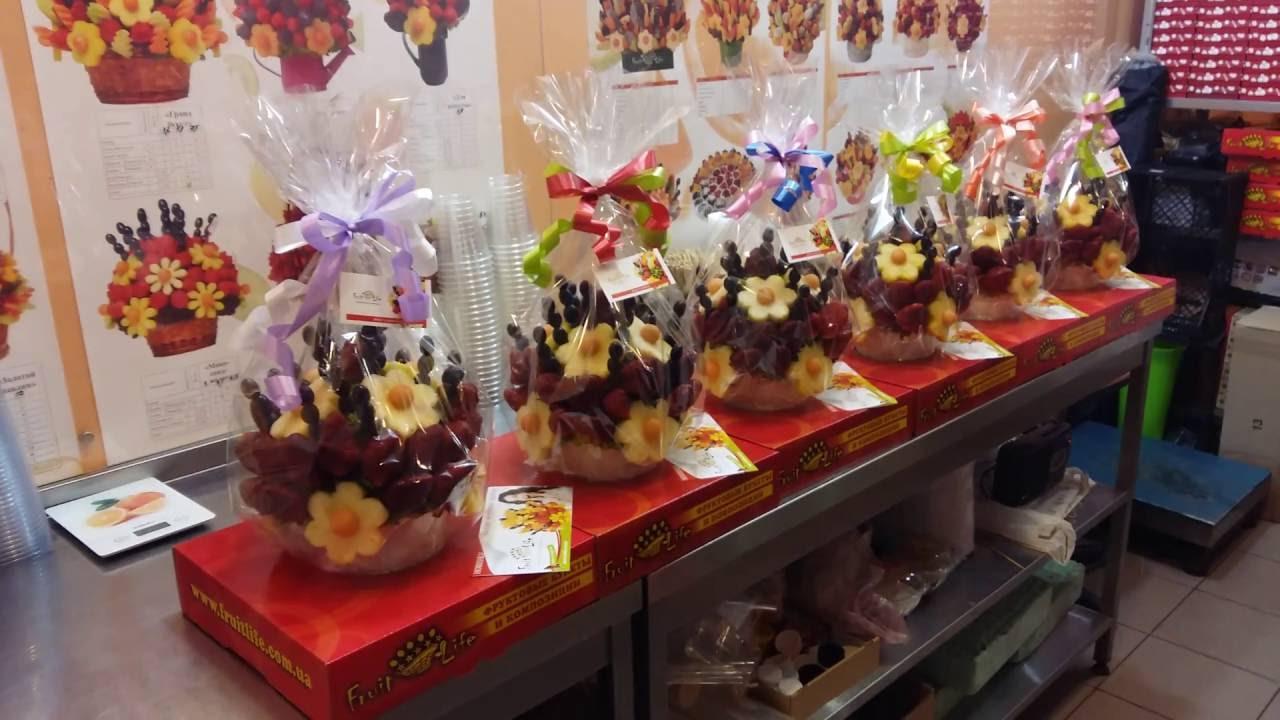 Букеты из 5 цветов и фруктов харьков, весенние букеты на 8 марта своими руками