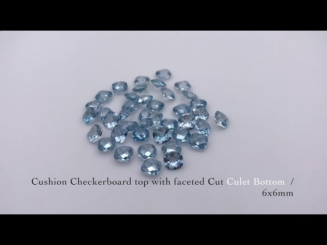 Synthetic Sky Blue Spinel 104# Color Cushion Cut Gemstones China wholesale
