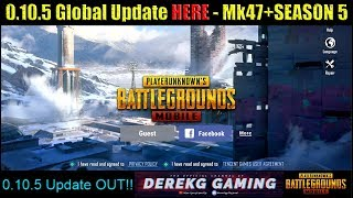 PUBG MOBILE 0.10.5 Global UPDATE is HERE - MK47 - Laser Sight - SEASON 5 Royal Pass - More!!