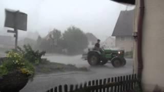 Unwetter mit Hagel und Sturm - Oberschwaben - 04.08.2013