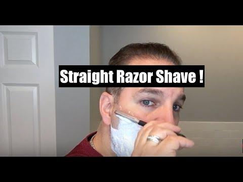 A Quick Straight Razor Shave
