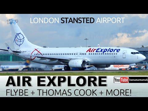 Stansted Planespotting Flybe Q400 Air Explore Thomson  Thomas Cook Split Scimitar STN