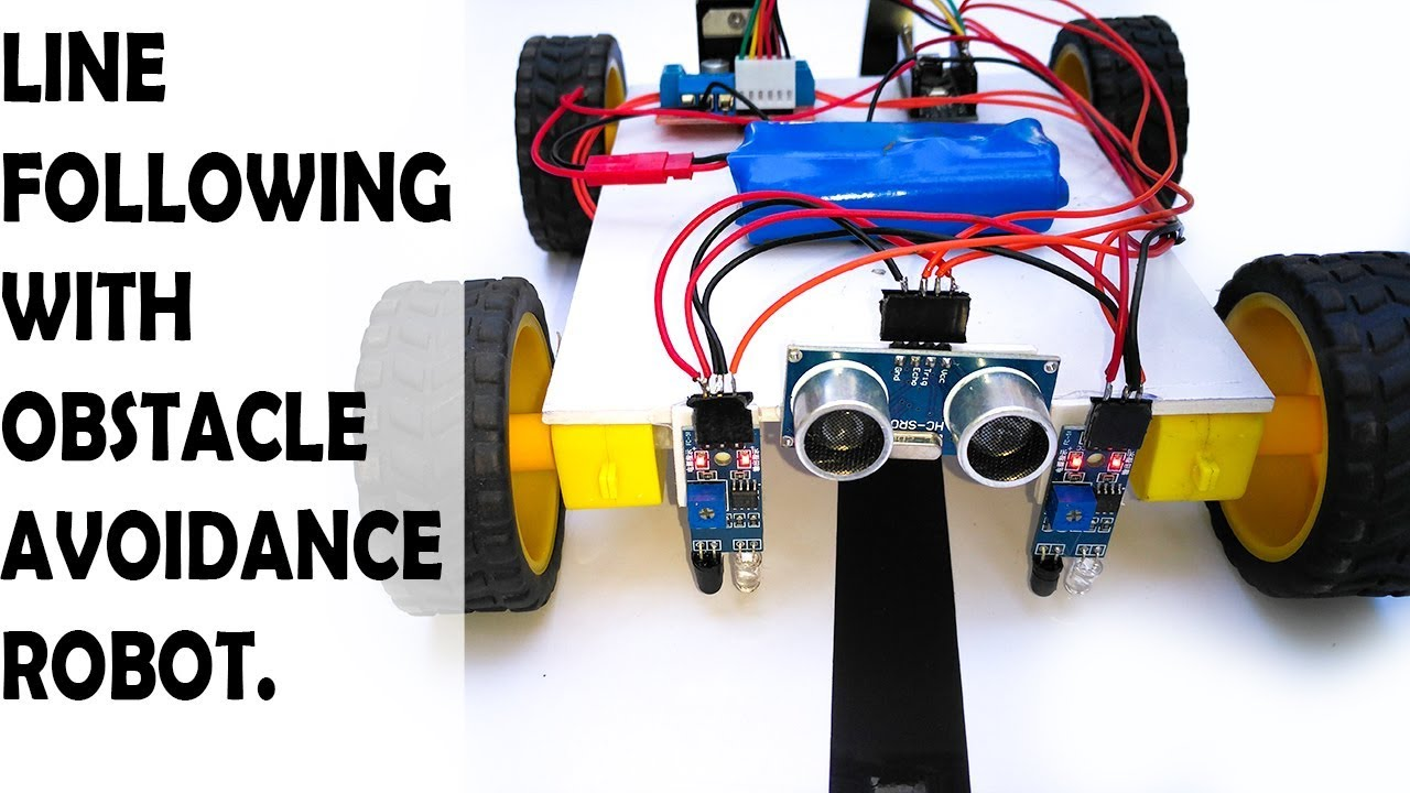 How To Make A Line Following With Obstacle Avoiding Robot