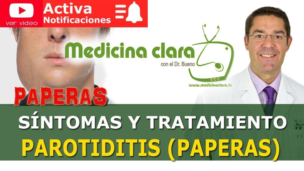 paperas sintomas y tratamiento