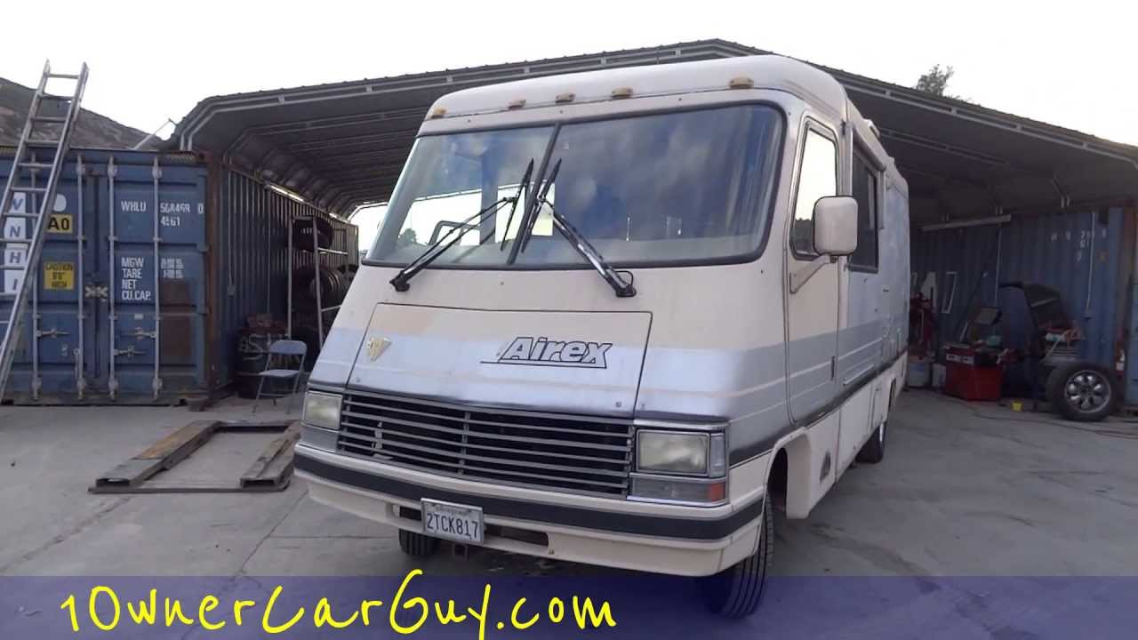 rv motorhome airex rexhall fiberglass coach video review 1990 class a for sale 3500 [ 1280 x 720 Pixel ]