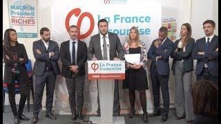 Conférence de presse des avocats de la France insoumise