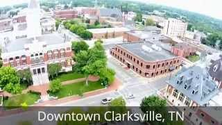 Peaceful Flight Over Downtown Clarksville, TN