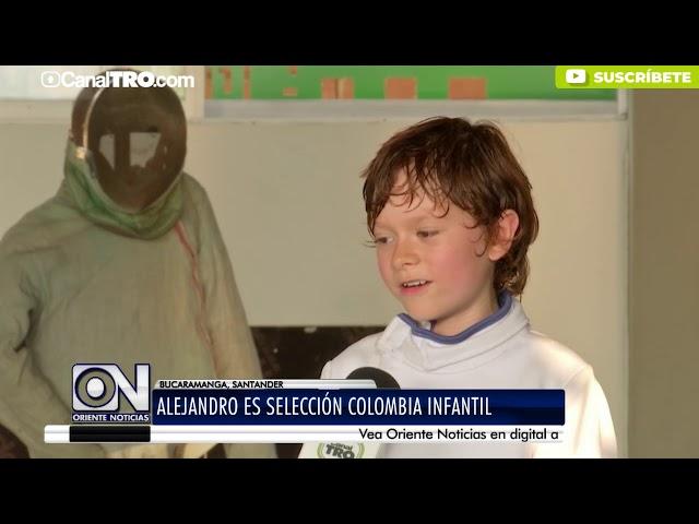 Alejandro es selección Colombia infantil