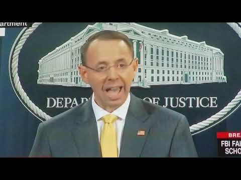 Rod Rosenstein reviews indictments of Russians