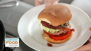 Feta-stuffed Blt Burger - Everyday Food With Sarah Carey