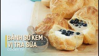 #CookyVN - Cách làm BÁNH SU KEM TRÀ SỮA ngon biến tấu hot-Chouxà la crème (Cream Puffs)-Cooky TV