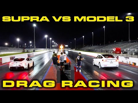 Tesla Model 3 soundly humbles tuned 2020 Toyota Supra in drag race