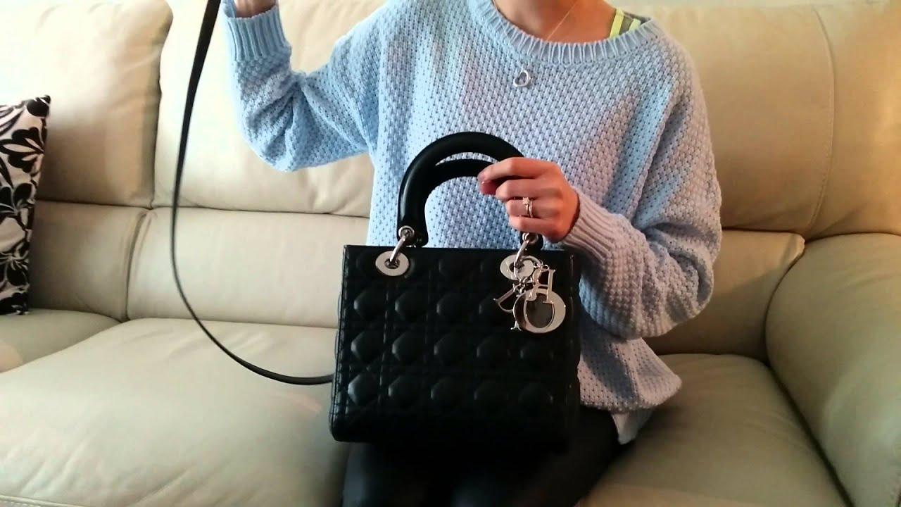 lady dior bag review christian dior bag youtube. Black Bedroom Furniture Sets. Home Design Ideas