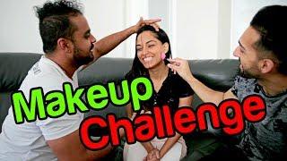 GUYS VS GIRLS - 5 Minute Makeup CHALLENGE