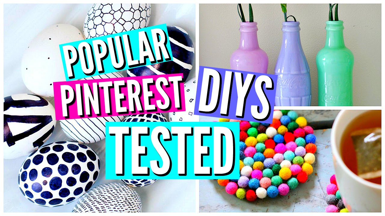 diy pinterest room decor tested youtube