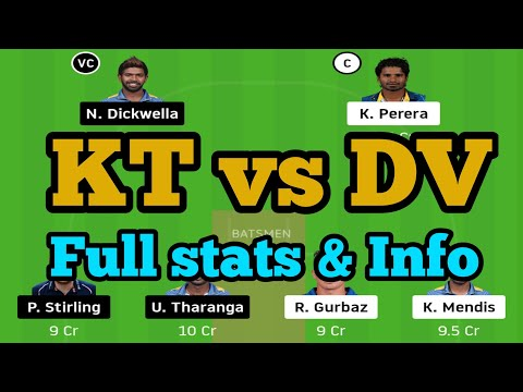 KT vs DV DREAM11 TEAM NEWS AND PLAYING11 2020 || DV bs KT SEAF PLAYING11