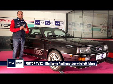 MOTOR TV22: Die Ikone Audi quattro wird 40 Jahre alt