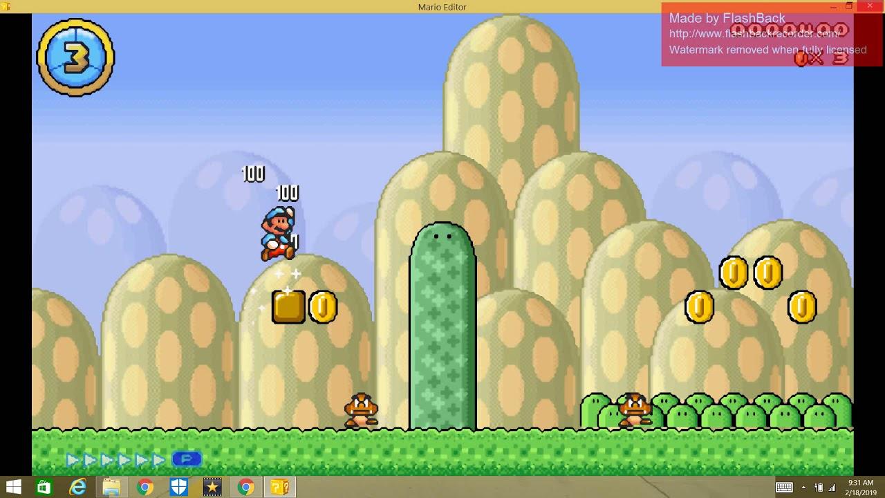 Mario Editor - Grassy Grasslands + New Powerups