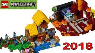 LEGO Minecraft 2018 наборы из игры майнкрафт