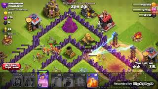 Clash of clans- Đánh chay vaky3